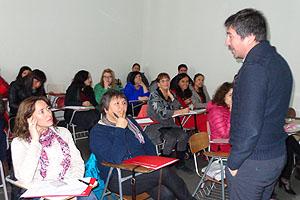 Mat. Mauricio López, contestando inquietudes de los asistentes a esta 1° Jornada de Capacitación.