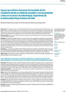 Portada del artículo publicado en la revista española.