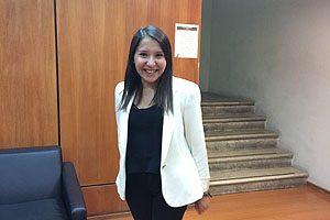 Fernanda Sandoval, primera egresada de la primera generación.