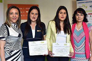 EU Pamela Torres, Valentina Lagos, Bárbara Palominos y TM PhD Francisca Silva.
