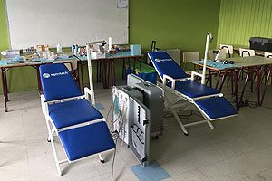 Siete sillones odontológicos se pusieron al servicio de la comunidad de Piedra Azul, en el voluntariado de invierno 2016.