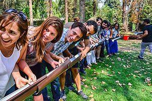 La resolución de situaciones complejas gracias al trabajo en equipo generó diversas actividades al aire libre.