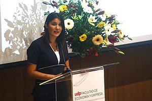 La egresada Silvana Lizama  pronunció un emotivo discurso.