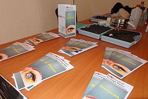 Los folletos también se usaron como material de apoyo en la difusión del operativo.