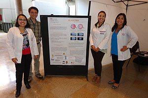 TM Sylvia Artillería, TM Mg Erwin Landskron, TM Valentina Rodríguez y TM PhD Pamela Cornejo.