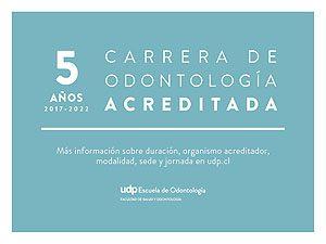 La agencia Qualitas otorgó 5 años a la carrera de Odontología UDP, al finalizar el segundo proceso de acreditación.