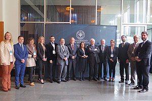 Representantes de la ACHEO durante el 2° congreso realizado en la sede Bellavista de la Universidad San Sebastián.