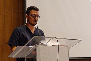 El estudiante Mauro Roque, uno de los 85 de 2° año que fue investido durante la ceremonia.