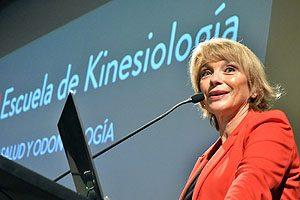 Prof. Yasna Carrión, Decana de la FACSyO, también se sumó a la celebración por el Día Nacional de la Kinesiología.