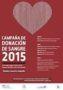 Campaña de donación de sangre del primer semestre de 2015.
