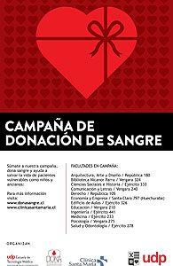 Campaña de donación de sangre del segundo semestre de 2015.