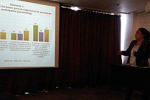 La EU Marcia Maldonado, coautora de dos investigaciones, también expuso durante el congreso desarrollado en Coquimbo.