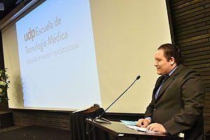 Daniel Olave Sandoval, Premio Espíritu Portaleano, pronunció un discurso en representación de los egresados.