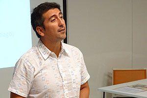 Mat. Mauricio López, quien ofreció dos clases durante la jornada.