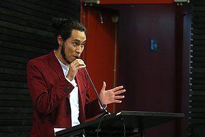 El estudiante Fabián Moraga, Vicepresidente del CETEM.